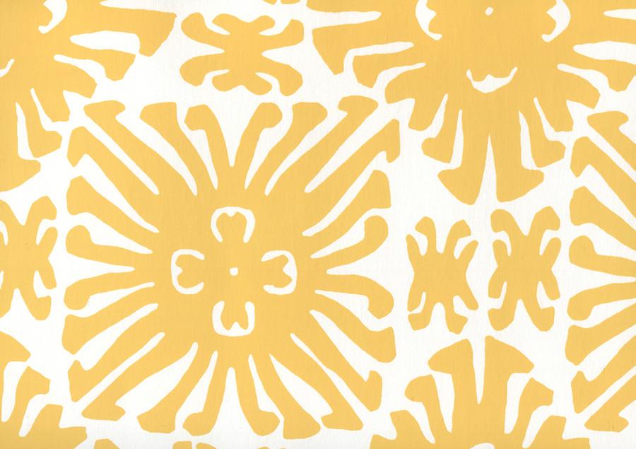 Sigourney Small Scale Yellow on white 2475WP 03