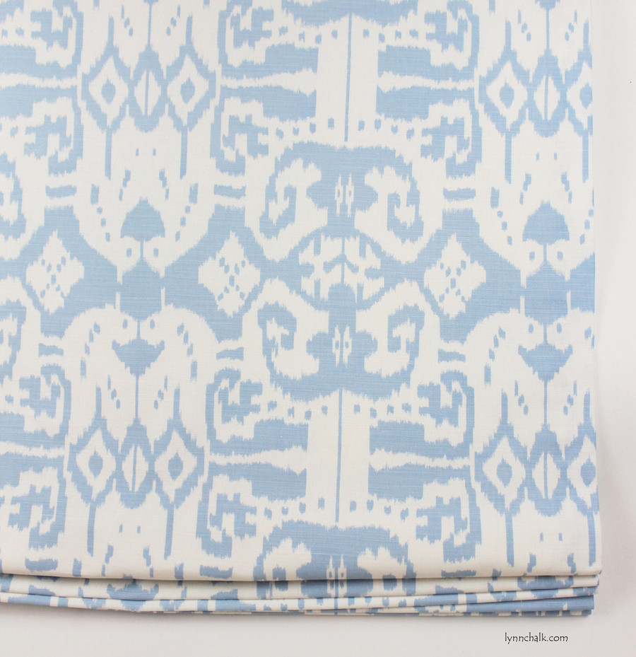 Quadrille China Seas Island Ikat Custom Relaxed Roman Shades (Comes in many colors)
