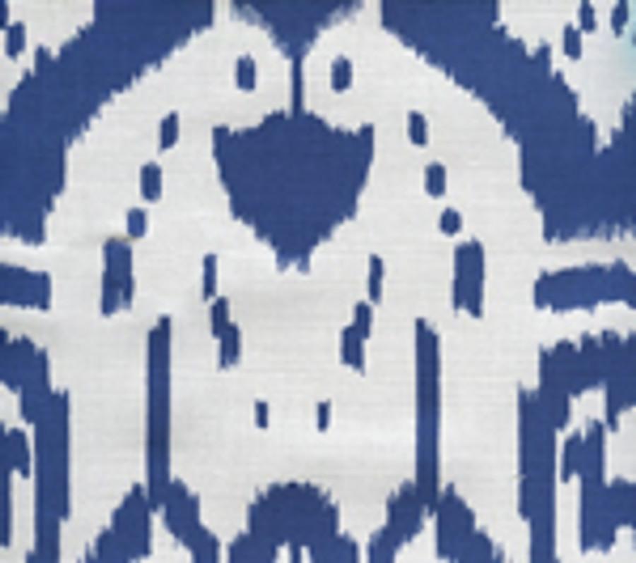 Quadrille Island Ikat Dark Blue on White 6460-01