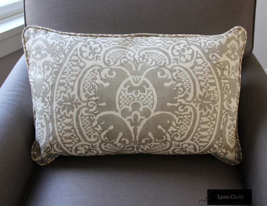 Quadrille Veneto in Grey Pillow
