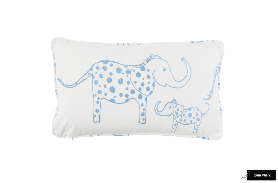 Pillow (12 X 20) in Sky Blue with Self Welting