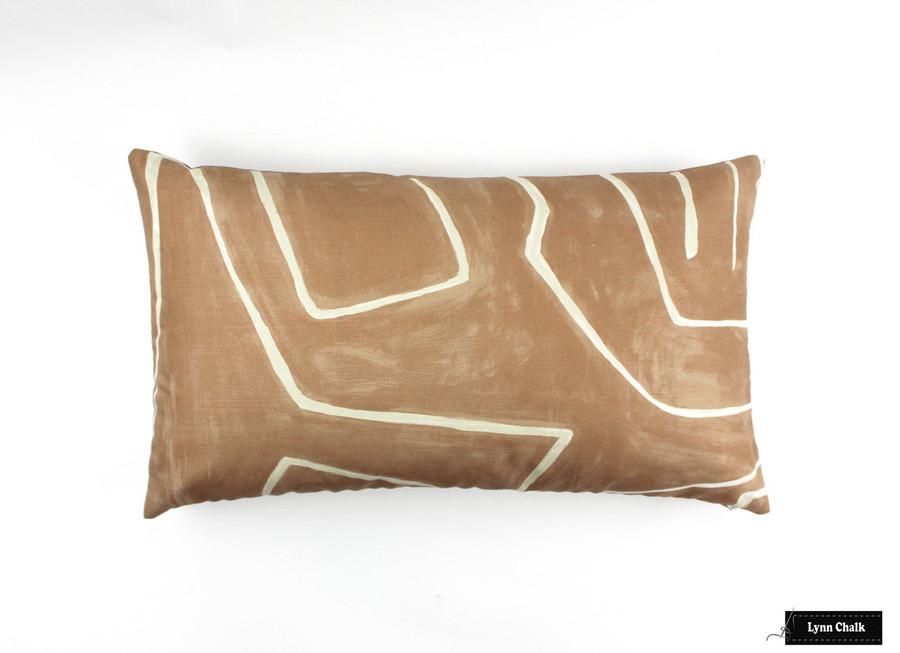 Custom Pillow (14 X 24) in Graffito Salmon/Cream