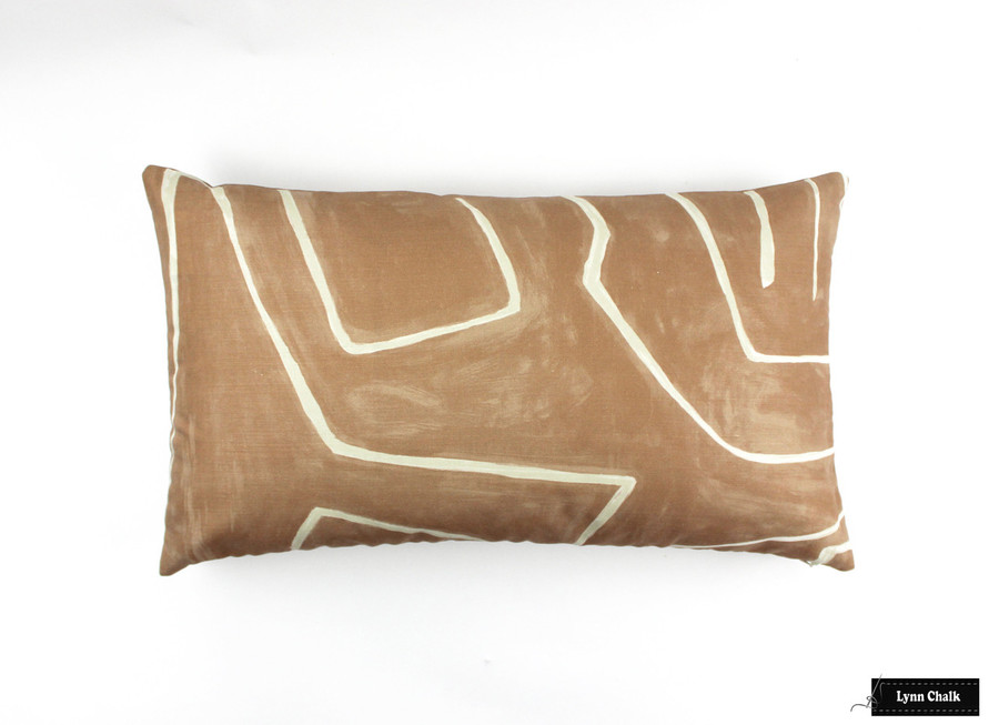 Custom Pillow (14 X 24) in Graffito Salmon/Cream
