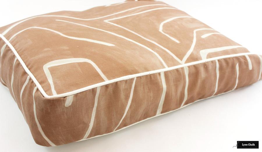 Custom Cushion in Graffito Salmon/Cream