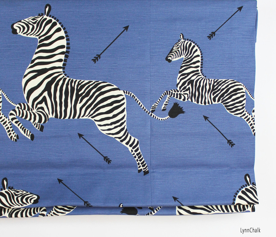 Scalamandre Zebras Pillows with 16 X 26 with Self Welting (Both-Sides-Shown in Denim-comes in other colors) 2 Pillow Minimum Order