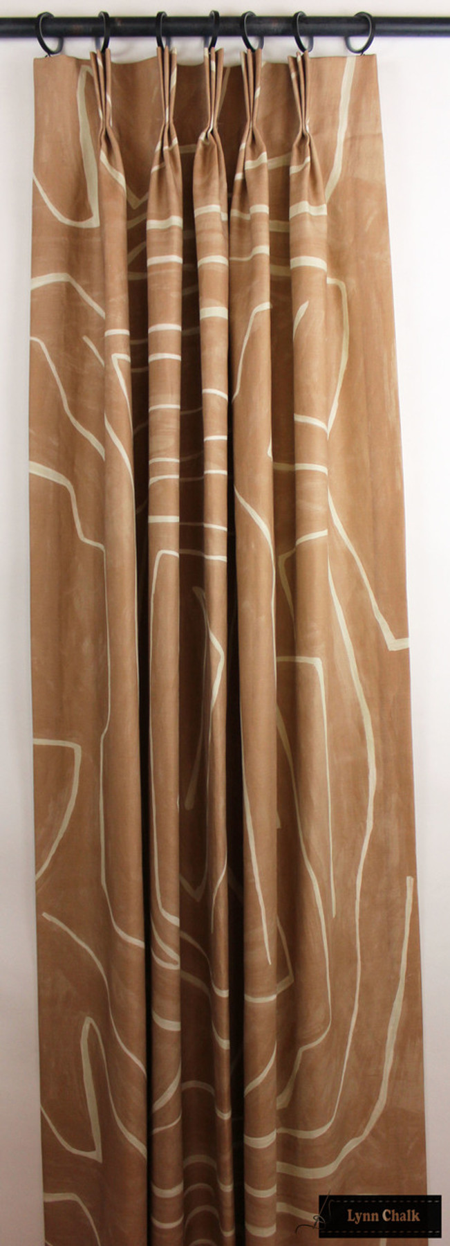 Kelly Wearstler Graffito Drapes in Salmon/Cream