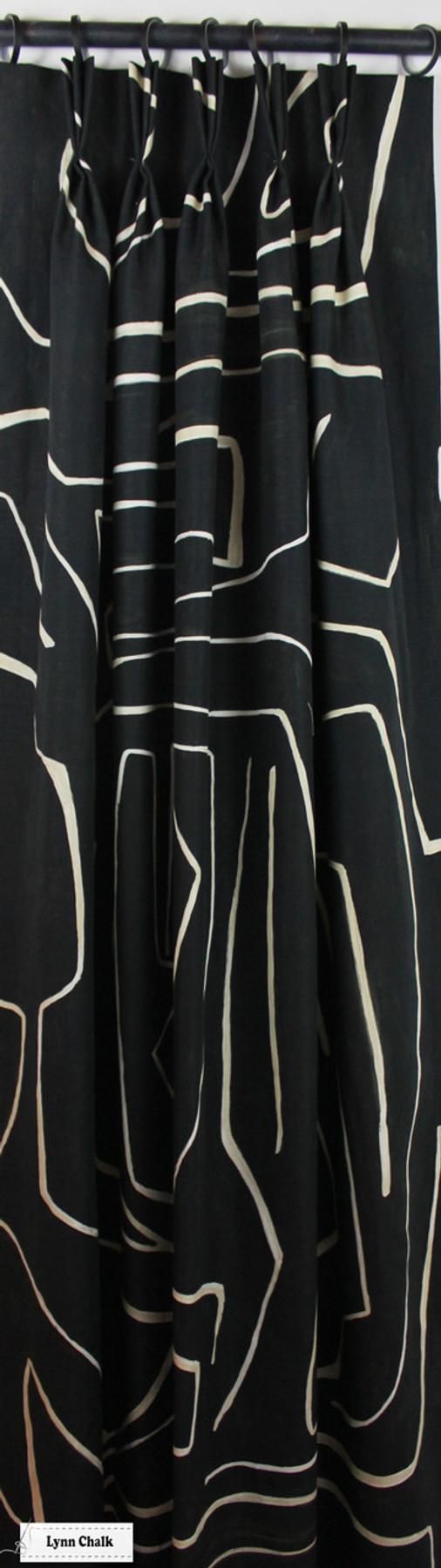 Kelly Wearstler for Lee Jofa Graffito Drapes (shown in Salmon/Cream-comes in several colors)