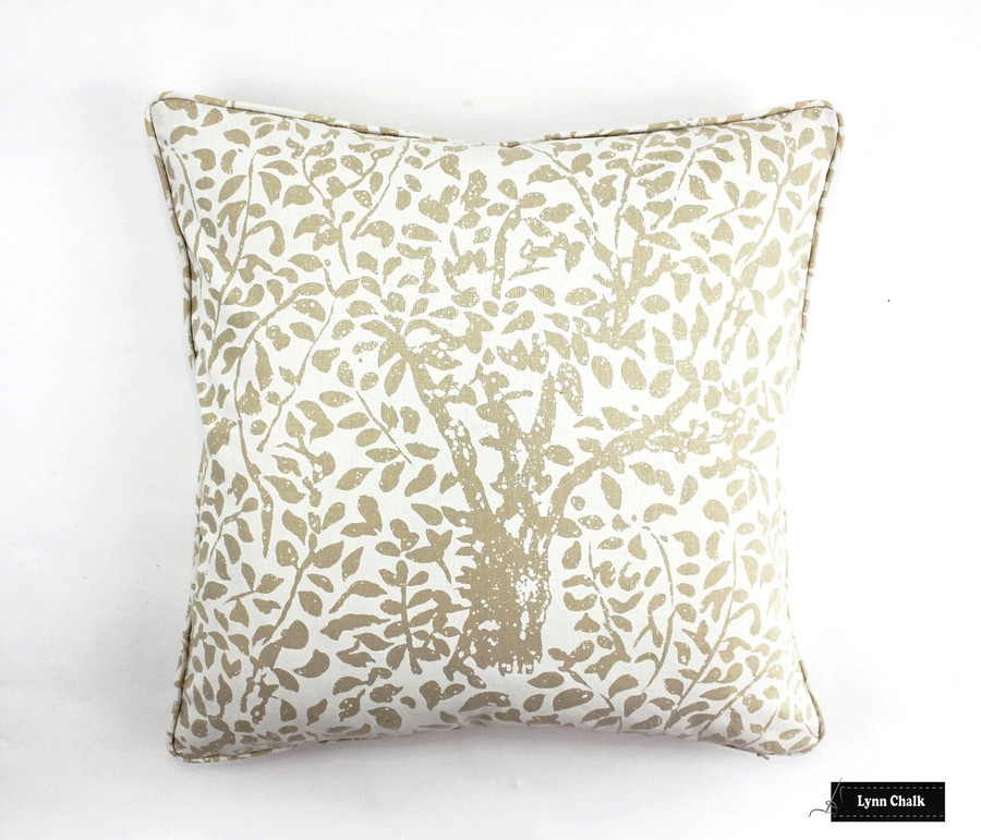 Quadrille Arbre De Matisse Ecru on Natural 2030-01 Pillow (20 X 20)