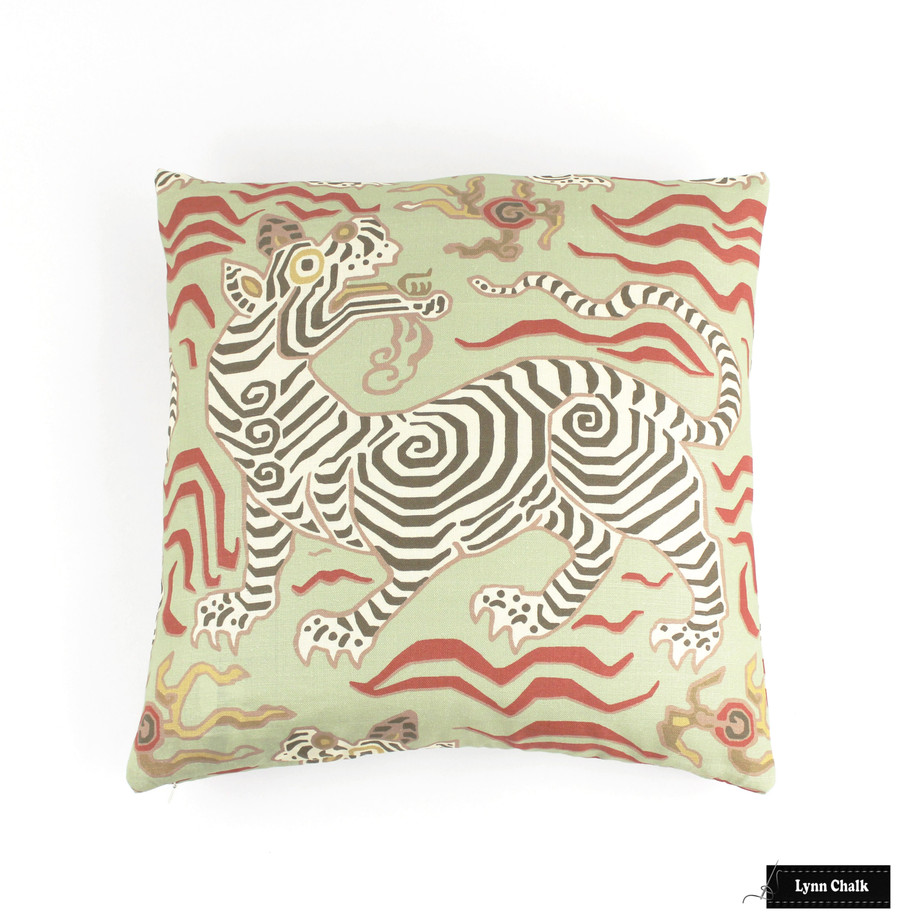 Custom Pillow in Tibet in Pale Green (20 X 20)