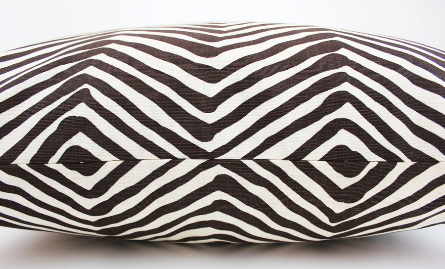 Quadrille Alan Campbell Zig Zag Pillow in Orange on Tint (Comes in 15 Colors) Contact Me To Order