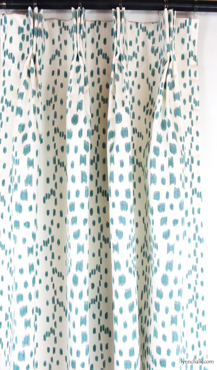 Custom Drapes by Lynn Chalk in Les Touches in Aqua