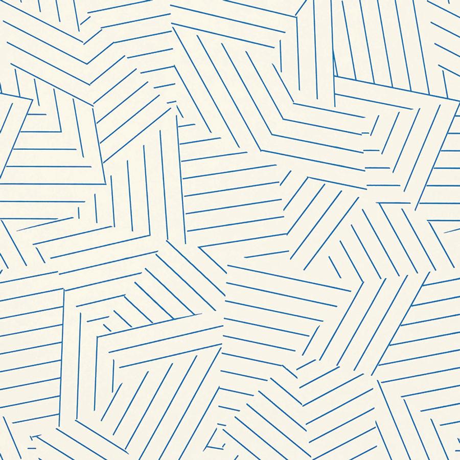 5007972 Deconstructed Stripe Wallpaper Cobalt