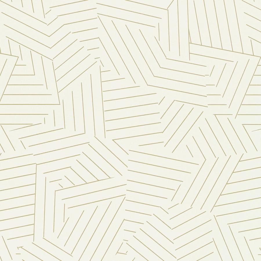 5007970 Deconstructed Stripe Wallpaper Greige