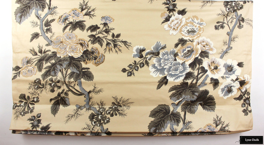 """Roman Shade in Pyne Hollyhock Tobacco (Shade is 47"""" Wide)"""