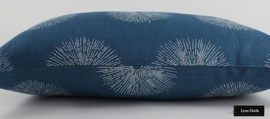 Kelly Wearstler Sea Urchin Custom Pillows in Teal/Dove 12 X 22 (Both Sides)