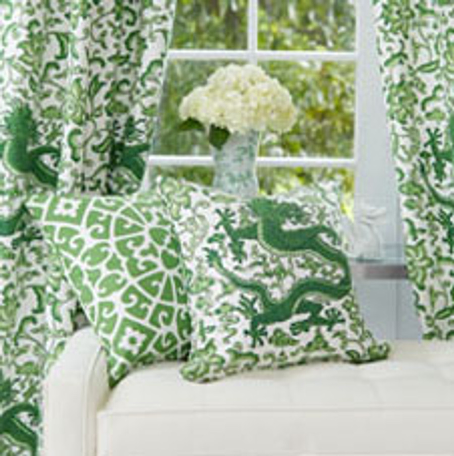 Chi'en Dragon Jade Drapes and Pillow