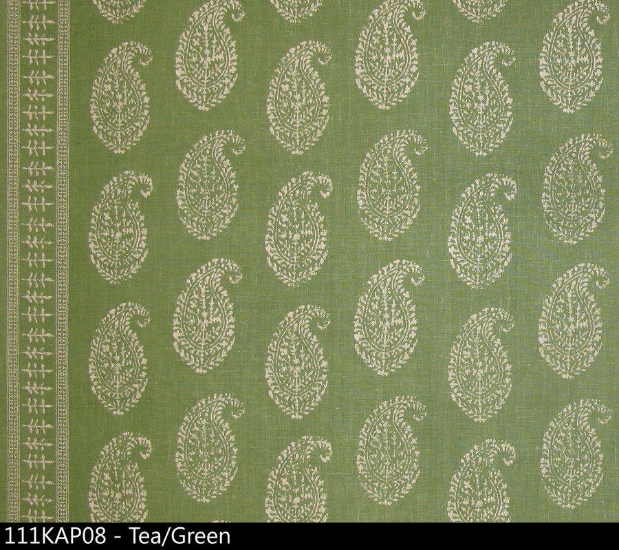 Peter Dunham Kashmir Paisley Tea Green 111KAP03
