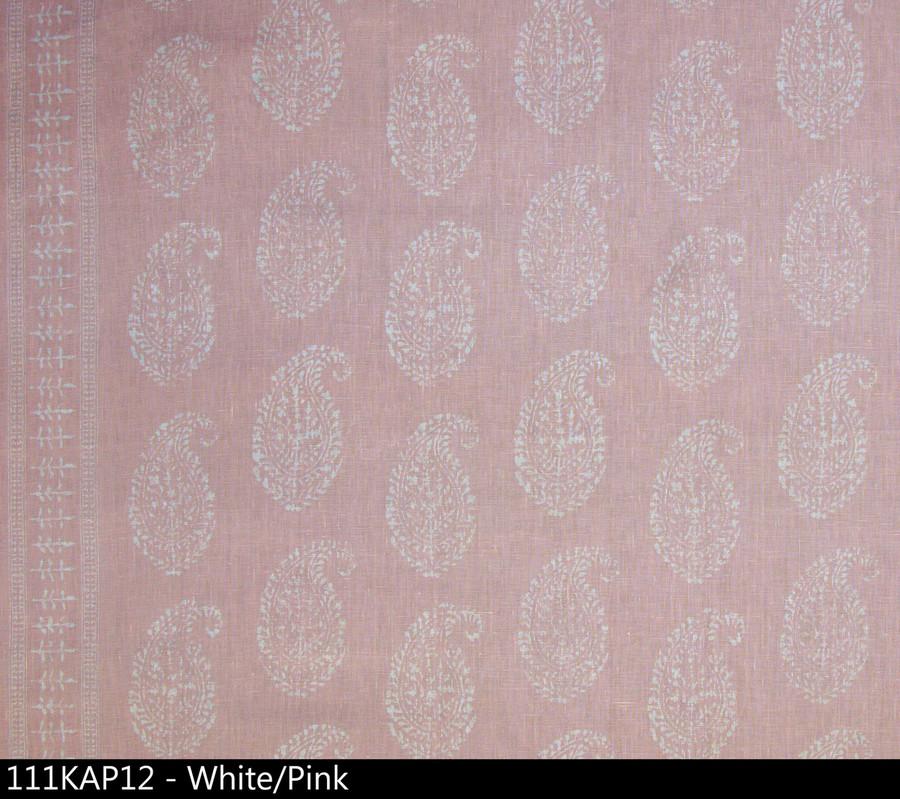 Peter Dunham Kashmir Paisley White Pink 111KAP12