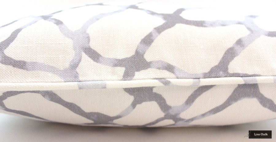 ON SALE 55% Off -Jeffrey Alan Marks for Kravet Waterpolo in Stone Gray with Self Welting (Both Sides-18 X 18) Only 2 Remaining at This Sale Price
