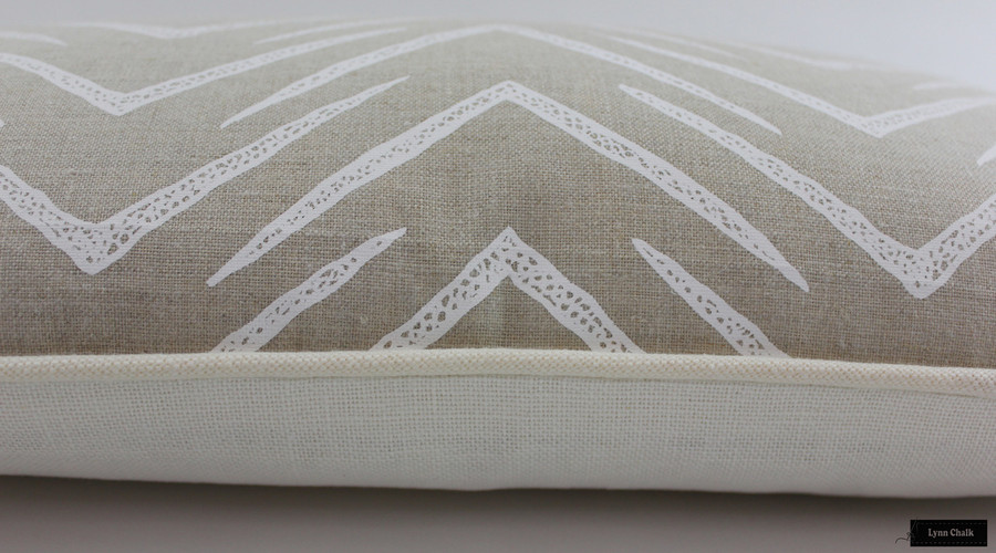 ON SALE 50% Off-Groundworks Herringbone Pillows in Jute/White (12 X 22)