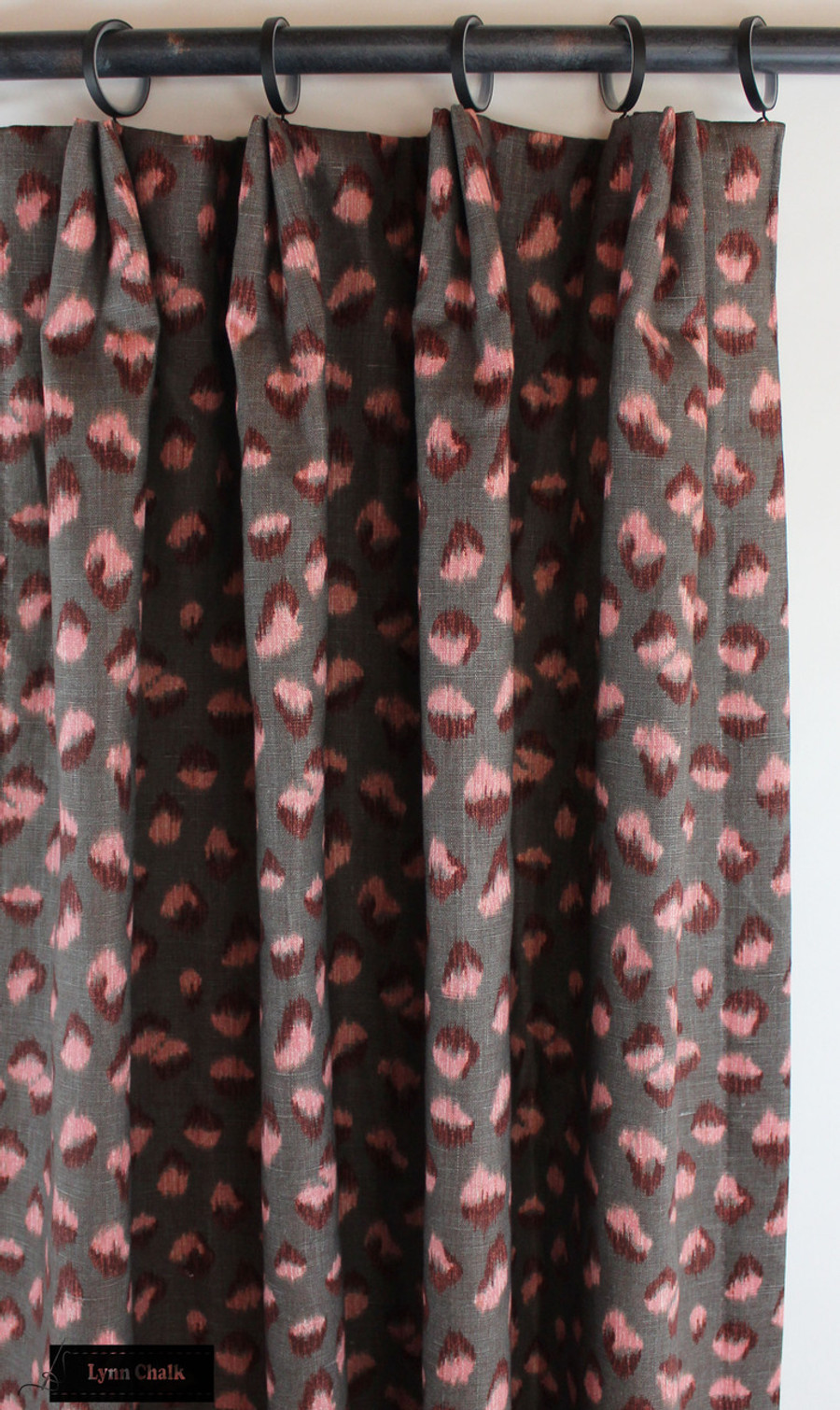 Kelly Wearstler for Lee Jofa Feline Custom Drapes (shown in Graphite Rose-comes in other colors)