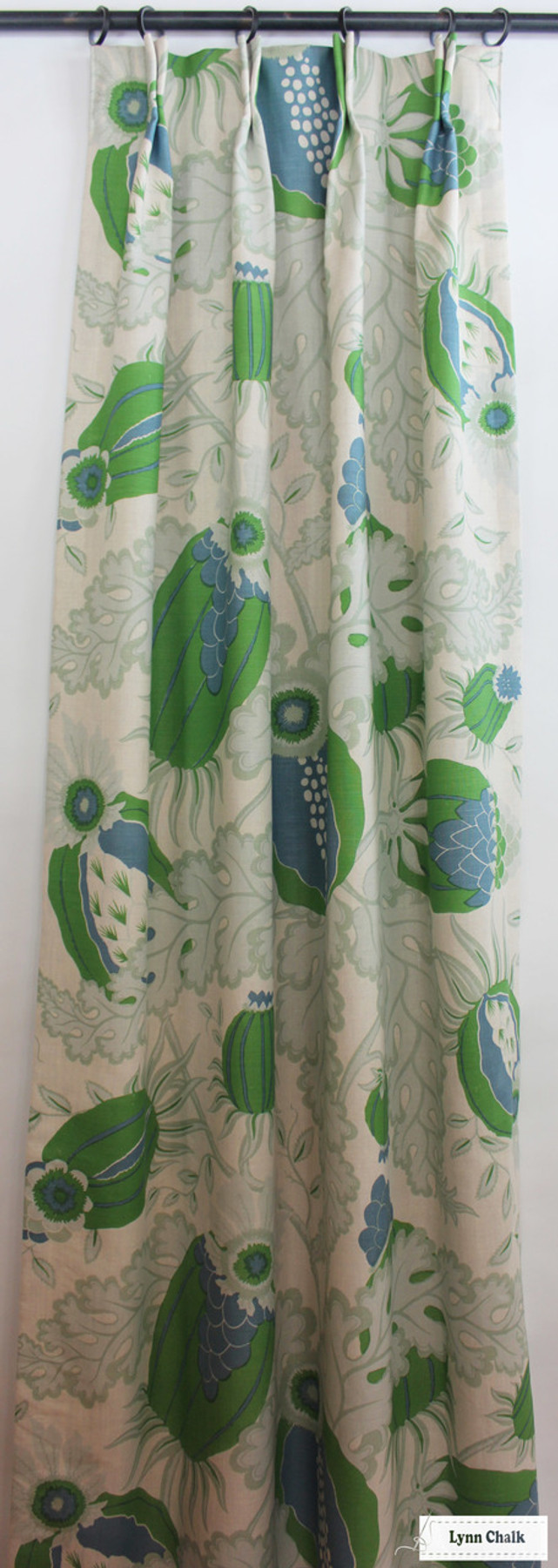 Christopher Farr Carnival Custom Drapes (shown in Green-comes in several colors)