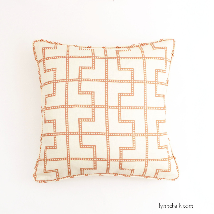 Pillow in Bleecker in Spark with self welting (18 X 18)