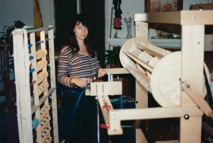 I am threading the loom.