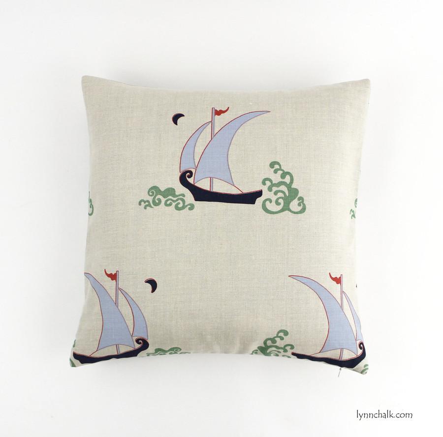 Backside of Pillow in Beetlecat Lavender on Linen