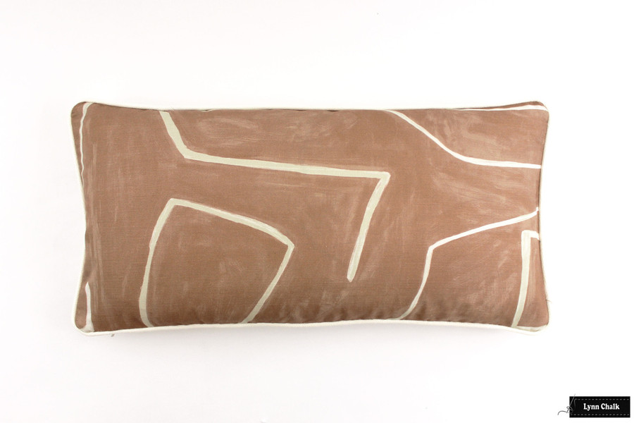 Custom Pillow (12 X 24) in Graffito Salmon/Cream