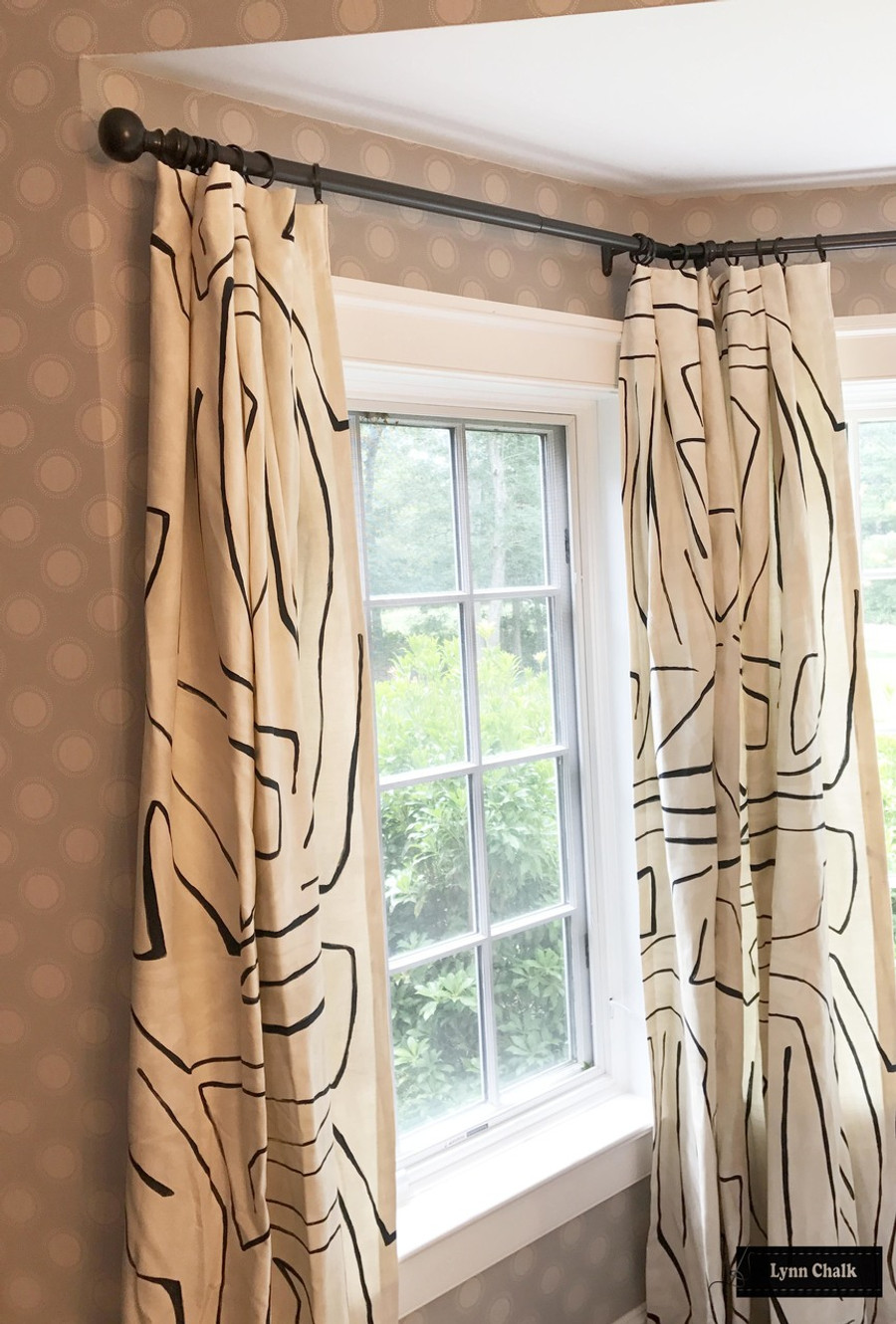 Kelly Wearstler for Lee Jofa Graffito Drapes (shown in Linen/Onyx-comes in several colors)