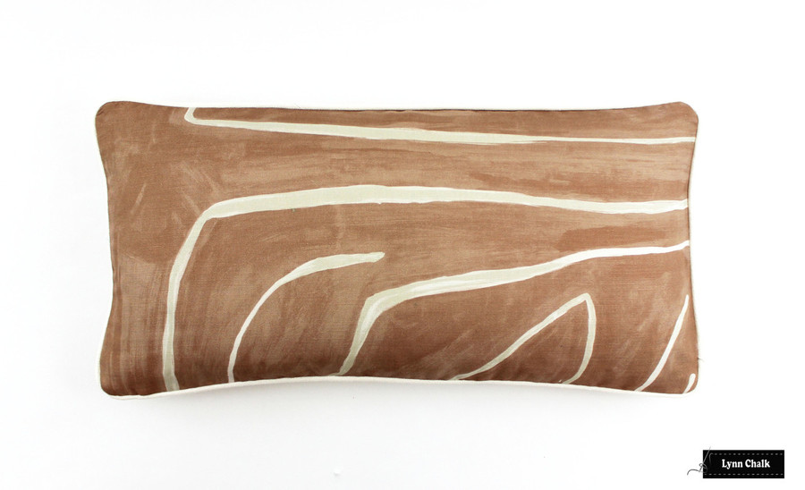Custom Pillow (12 X 24) in Graffito Salmon/Cream