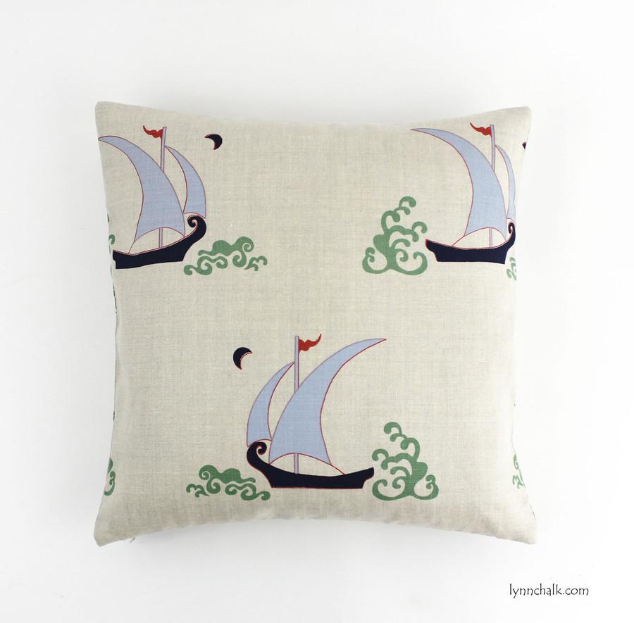 18 X 18 Pillow in Beetlecat Lavender on Linen
