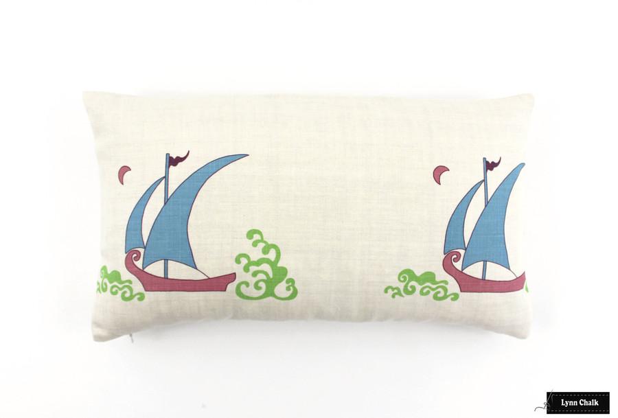 Pillow in Beetlecat Ultramarine 12 X 22