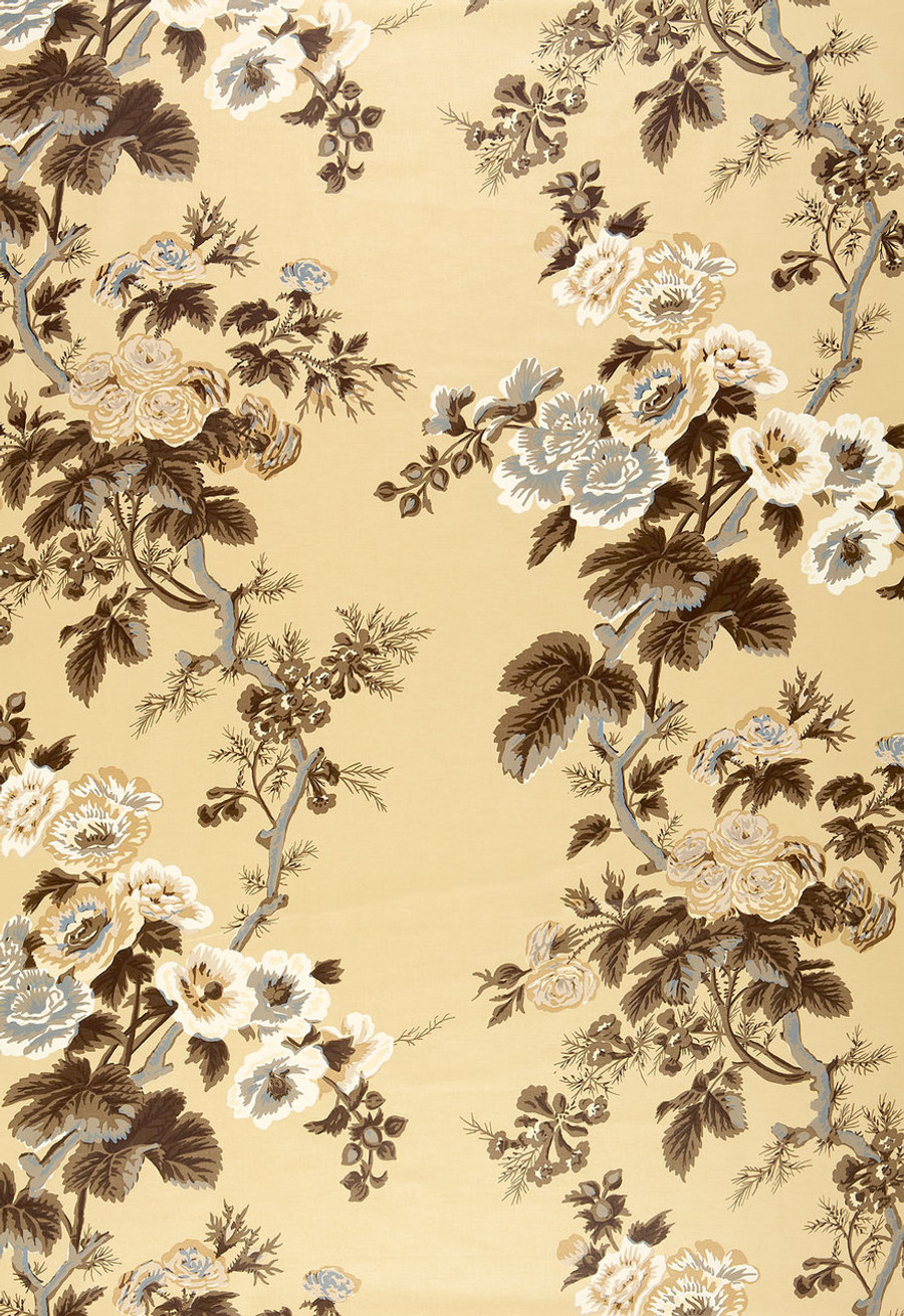 Pyne Hollyhock Print in Tobacco