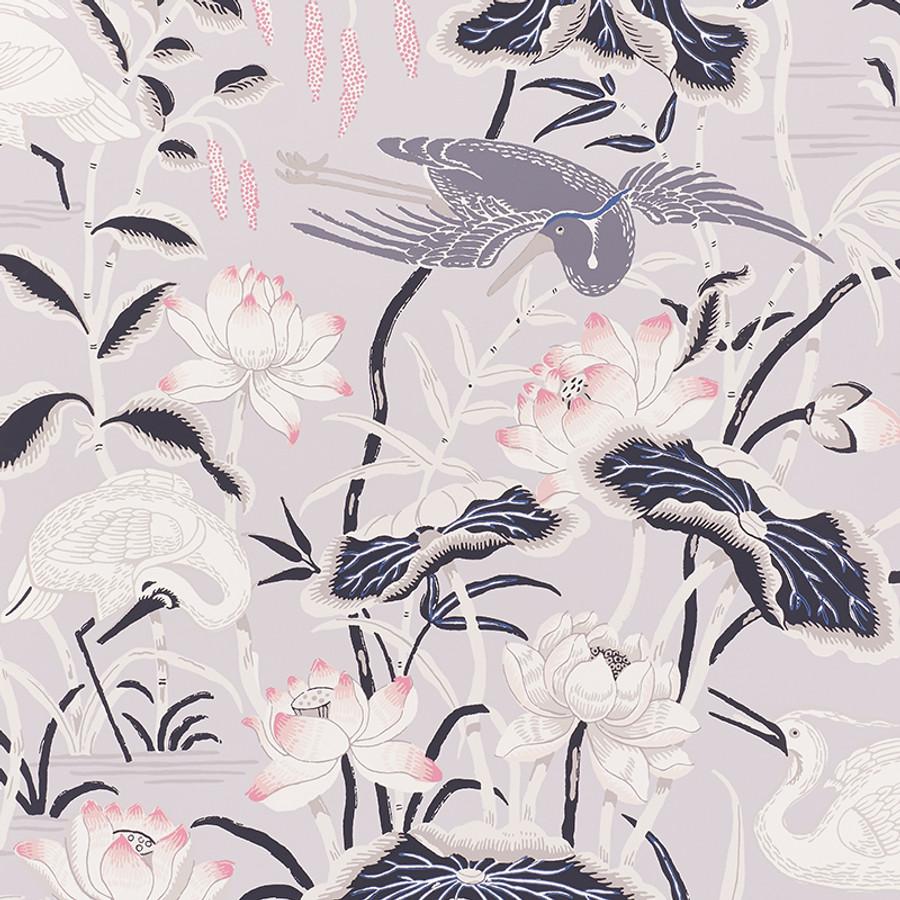 5008432 Lotus Garden Wallpaper in Lilac