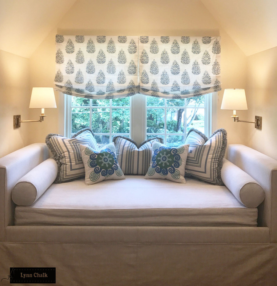 Double Wide Relaxed Roman Shades (this fabric has been discontinued)