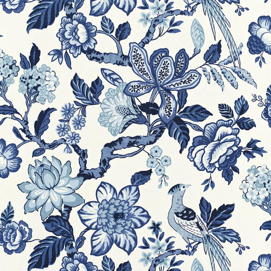 Schumacher Huntington Gardens Bleu Marine 175560