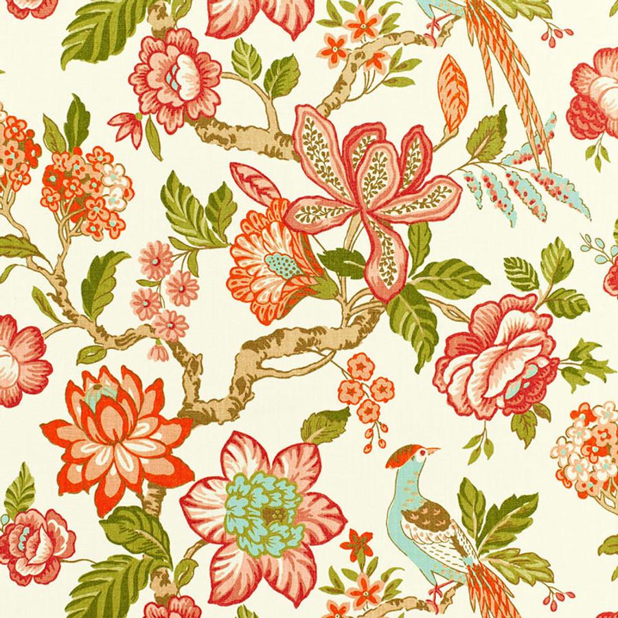 Schumacher Huntington Gardens Coral 175561