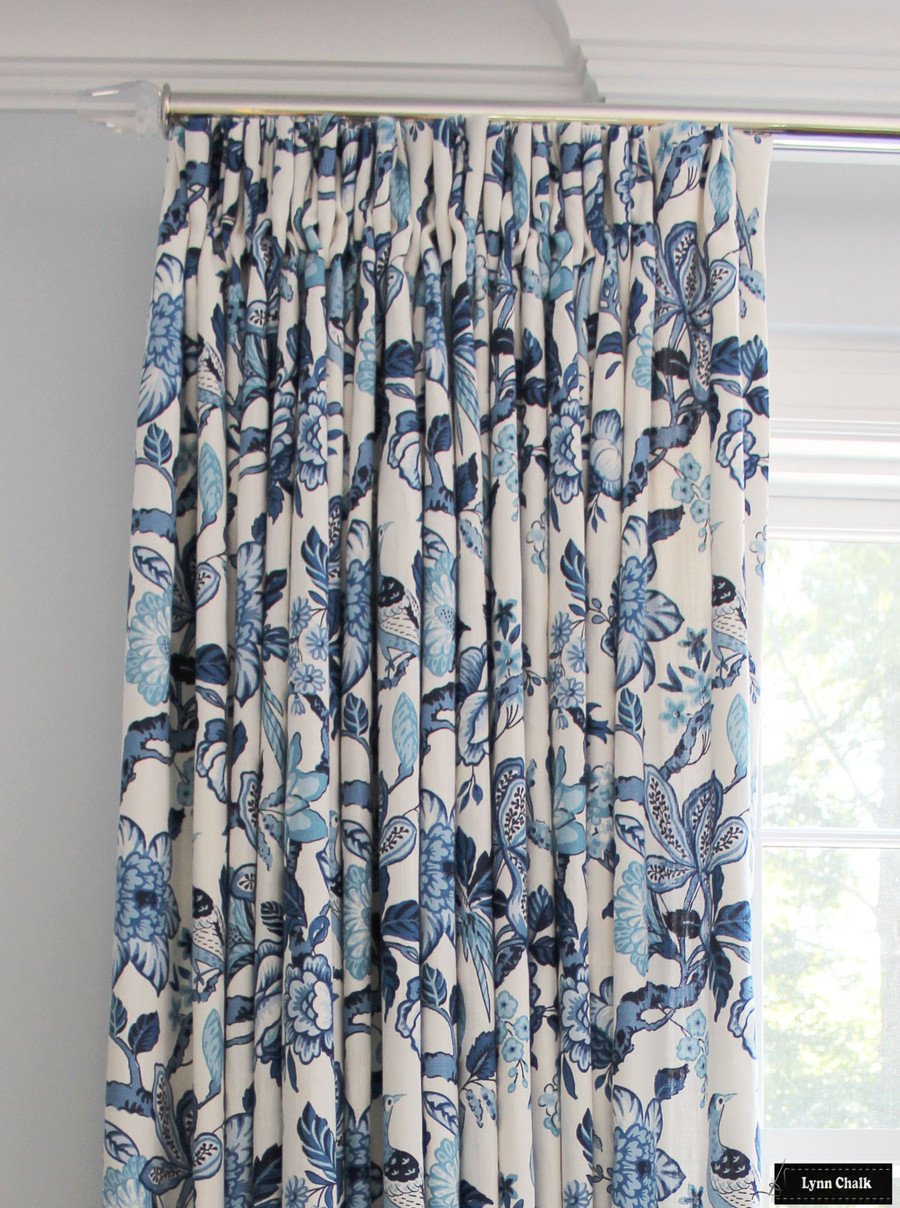 Schumacher Huntington Gardens Roman Shade (shown in Bleu Marine-comes in other colors)