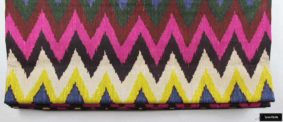 Martyn Lawrence Bullard for Schumacher Adras Ikat Roman Shades (Shown in Jewel)
