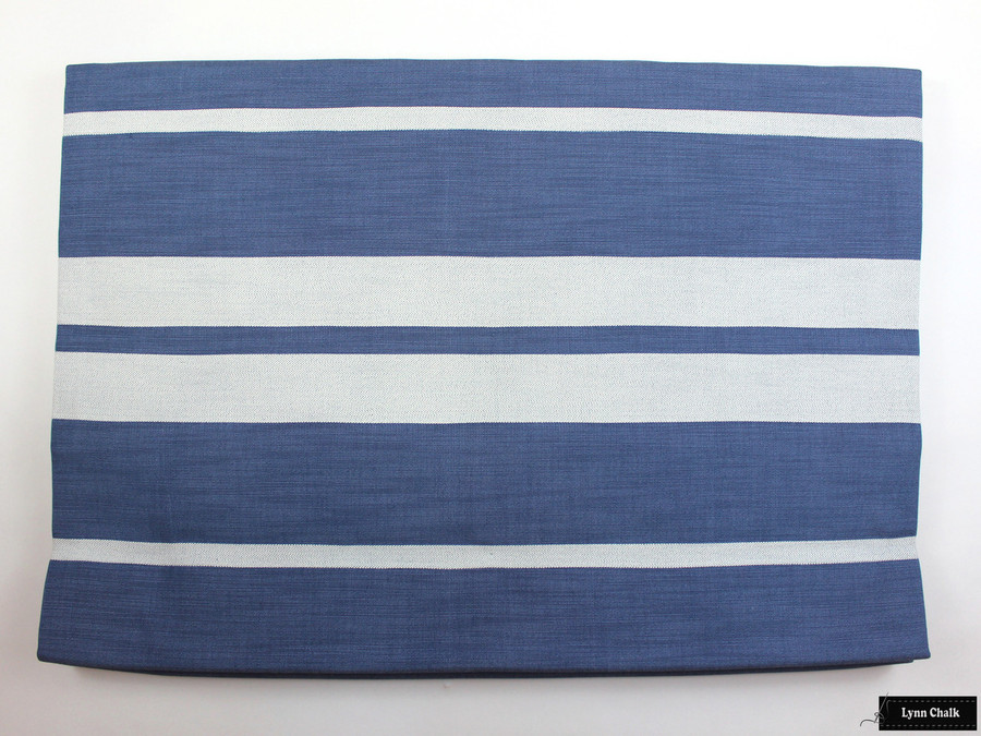 Roman Shade in Little Big Stripe in Blueberry