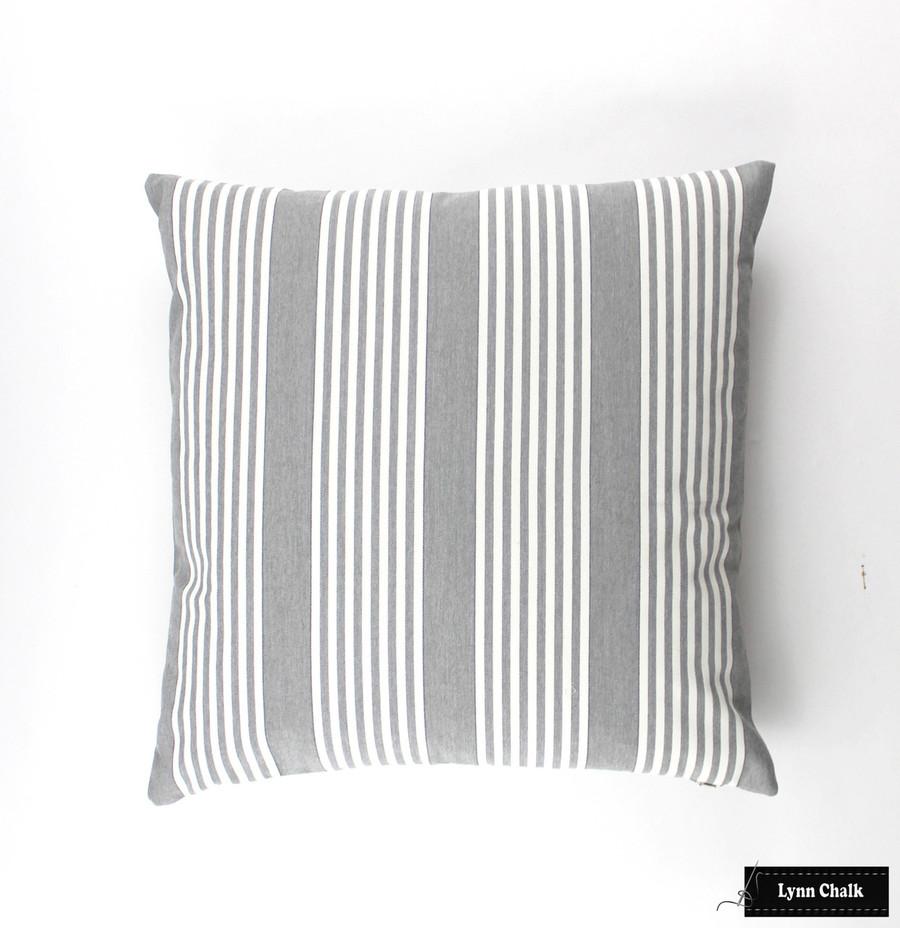 Perennials I Love Stripes in Platinum Pillow (20 X 20)