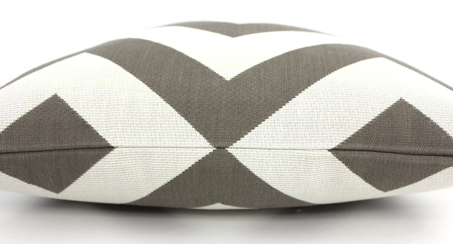 ON SALE 60% Off-Schumacher Antibes Chevron Indoor/Outdoor Pillow in Driftwood (Both Sides 18 X 18)