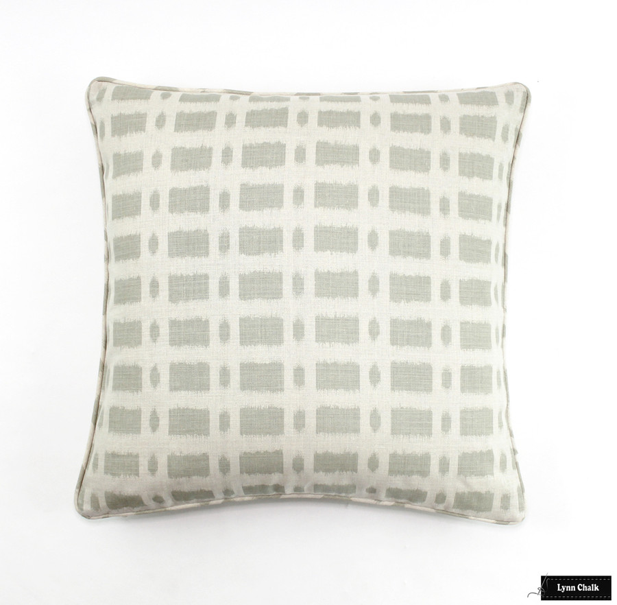 Schumacher Townline Road in Sage Pillows