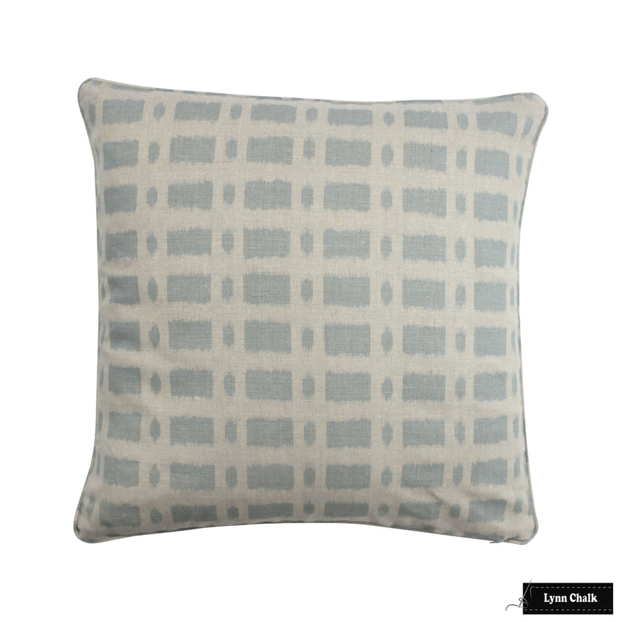 Schumacher Townline Road Blue Pillow