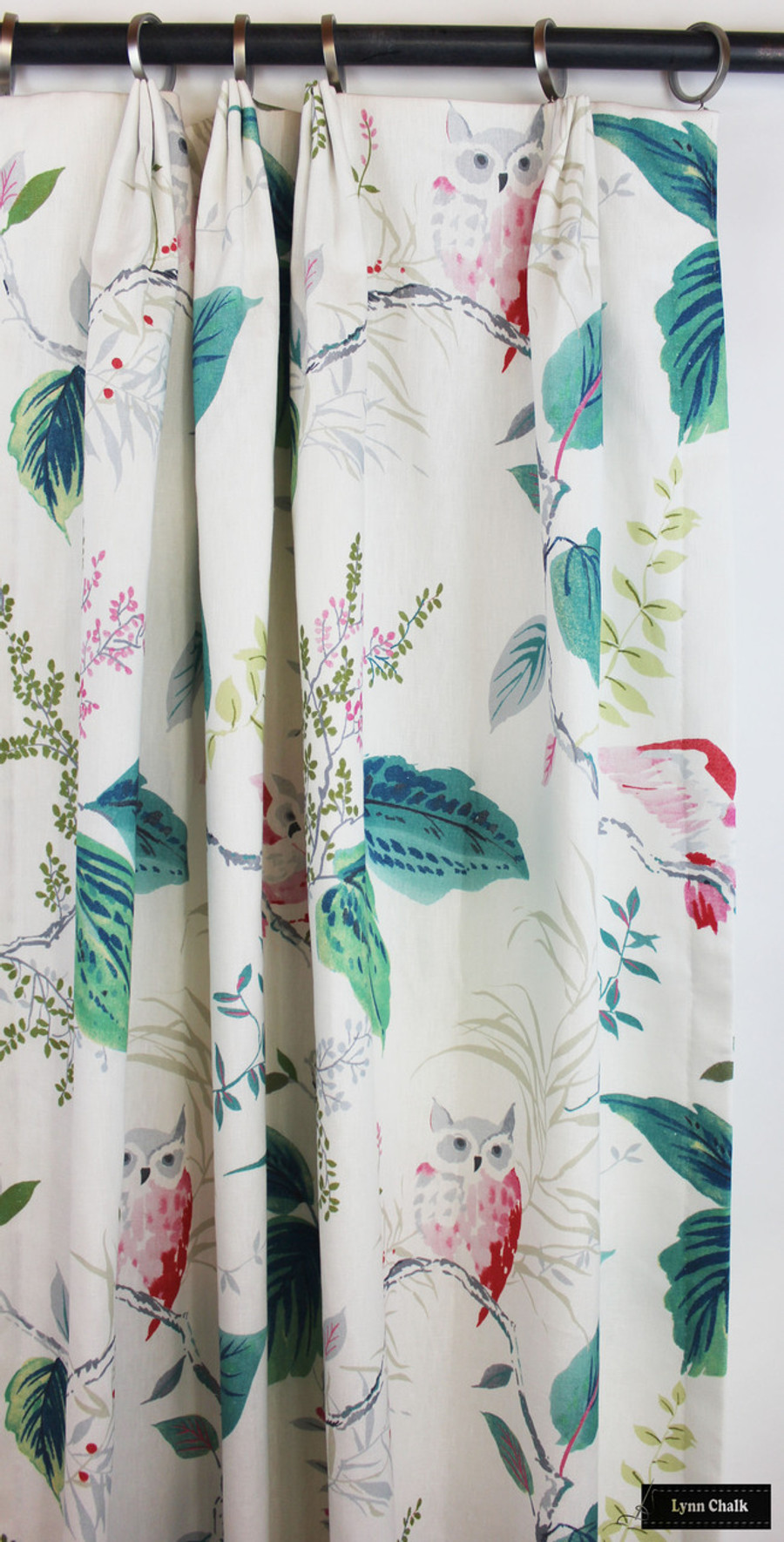 Custom Drapes in Kate Spade Owlish in Multi