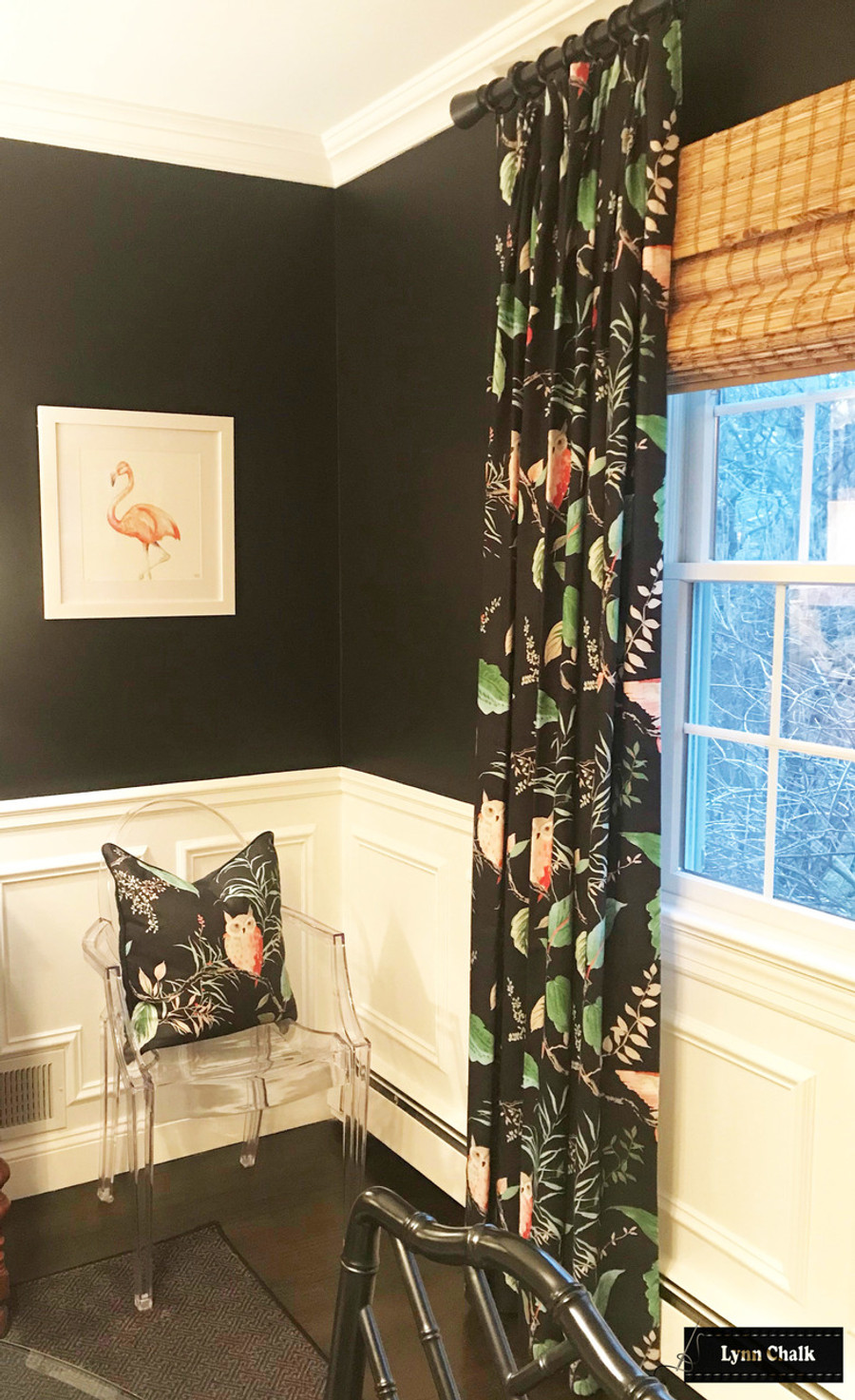 Kate Spade for Kravet OWLISH Custom Drapes (shown in Multi-comes in 4 colors)