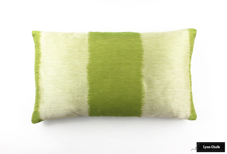 ON SALE 55% Off- Celerie Kemble Bagan in Absinthe Pillow  (Both Sides-12 X 26) Only 1 Remaining at This Sale Price