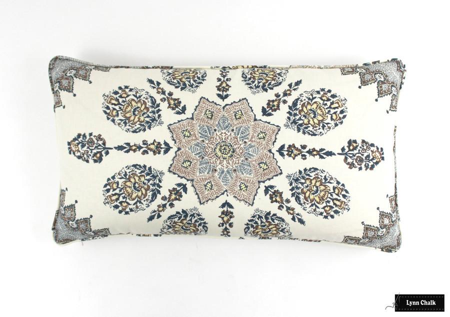 Persepolis Cream Brown Navy Pillows